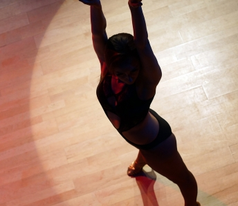 Female dancer black silhouette